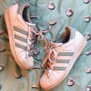 **RARE** tactile green adidas originals sneakers